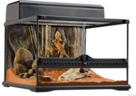 Terrarium, habitat d'avant garde pour reptiles, extra plat 45x45x30cm