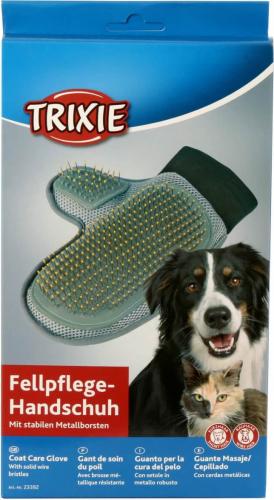 gant pour soigner le poil avec brosse m tallique brosses pour chat. Black Bedroom Furniture Sets. Home Design Ideas