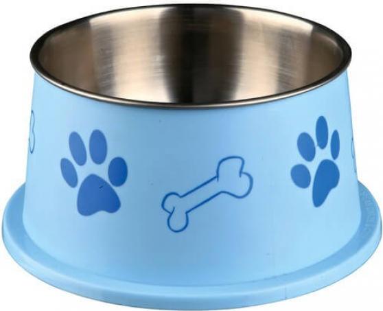 Ecuelle chien à longues oreilles, acier inox & plastique