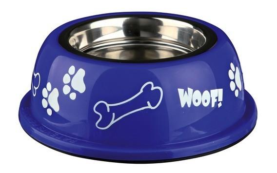 Ecuelle pour chien en acier inox avec support plastique_1