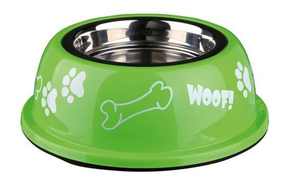 Ecuelle pour chien en acier inox avec support plastique_0
