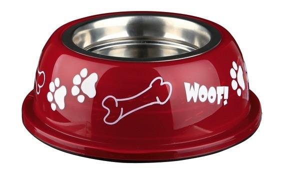 Ecuelle pour chien en acier inox avec support plastique_3