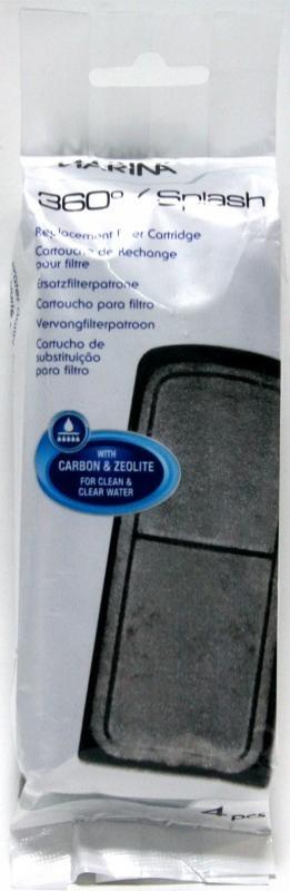 Cartouche de filtration x4 pour Aquarium Splash et 360 Fluval