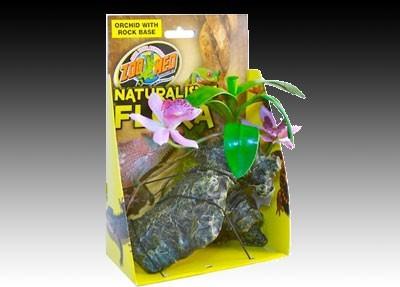 Plante artificielle Orchid et rocher