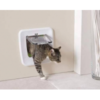Katzenklappe mit 4 Einstellmöglich