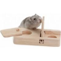 Jeu d'adresse en bois pour petits rongeurs (1)