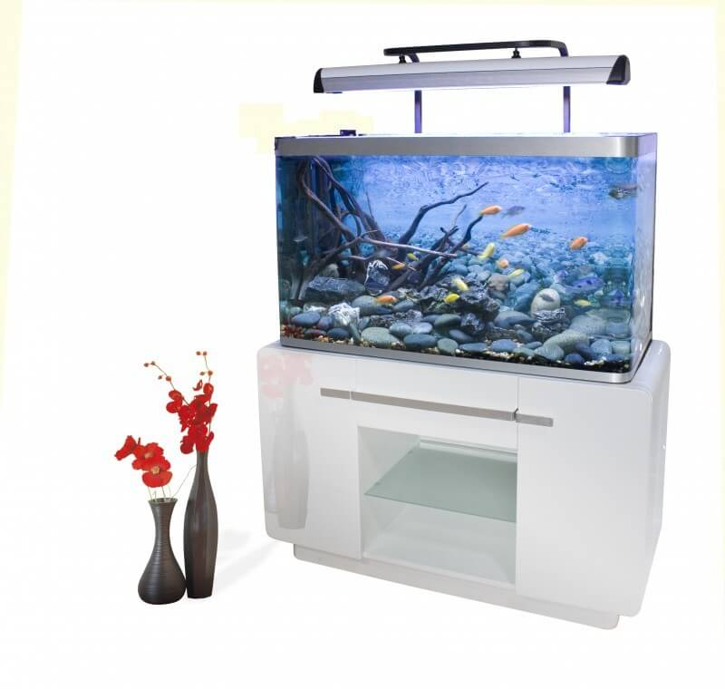 meuble osaka 320 blanc aquarium et meuble. Black Bedroom Furniture Sets. Home Design Ideas