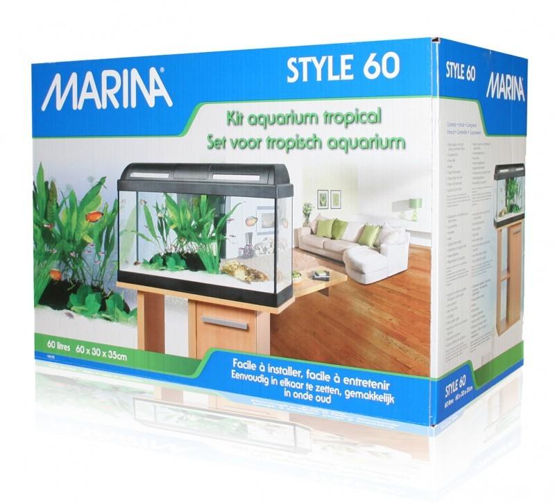 Aquarium 60 marina style quip aquarium et meuble for Marina aquarium