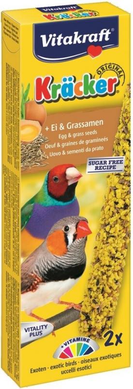 Friandises Kräcker Œuf Graines de Graminées pour oiseaux exotiques