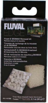 Recharge mousse et biomax pour aquarium Fluval Edge