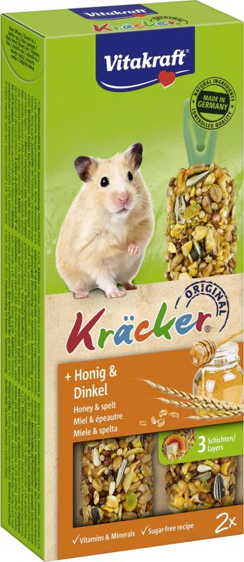 Snack, Kräcker mit Honig für Hamster, 2er-Pack
