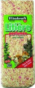 Virutas para lecho de roedores perfumado Frutas del Bosque.