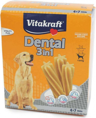 Sticks à mâcher Dental 3 en 1 Moyens et Grands chiens