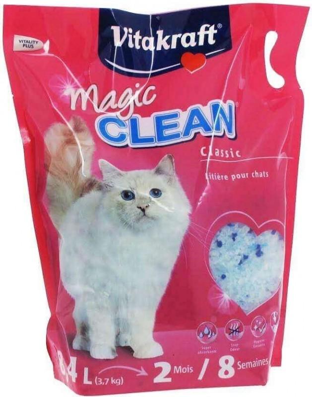 Litière Silice pour chat Magic Clean