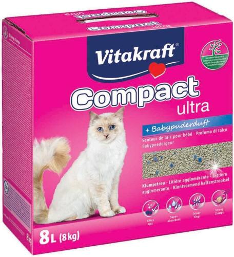 Litière minérale agglomérante VITAKRAFT Compact Ultra Plus 8kg
