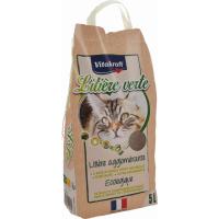 Litière minérale verte & agglomérante pour chat