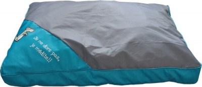 Cojín desfundable azul y gris - 75 cm