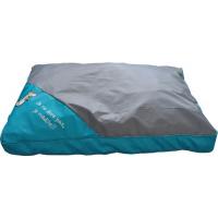 Coussin déhoussable bleu et gris  - 75 cm