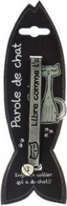 Collier pour chat en PVC - gris réfléchissant
