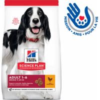 HILL'S Science Plan Canine Adult Medium pour chien de taille moyenne au poulet