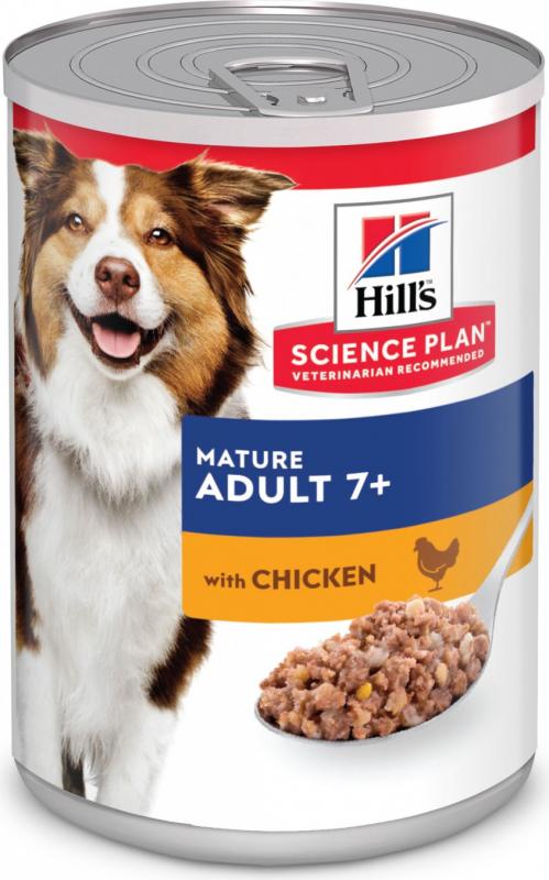 Pâtée HILL'S Science Plan Mature 7+ Savoury au Poulet pour chien Senior
