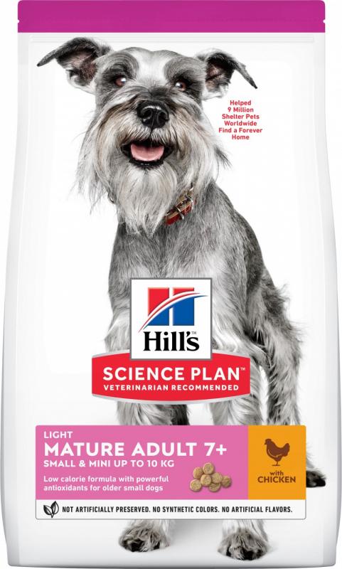 Hill's Science Plan Canine Mature Adult 7+ Light croquettes pour chien adulte de petite taille au poulet