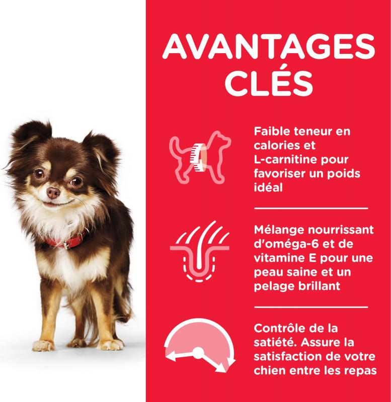 HILL'S Science Plan Canine Adult Light Small&Mini Poulet pour chien adulte de petite taille