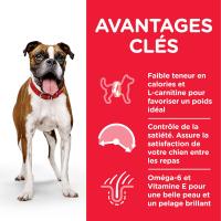 Pâtée HILL'S Science Plan Adult Light au Poulet pour chien adulte de taille moyenne