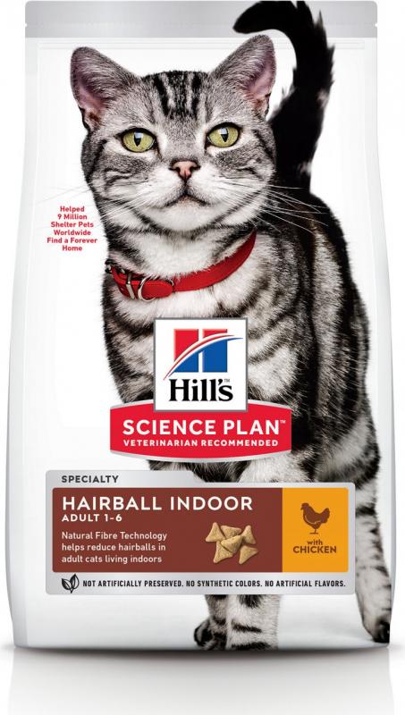Hill's Science Plan Adult Hairball Indoor croquettes pour chat d'intérieur au poulet
