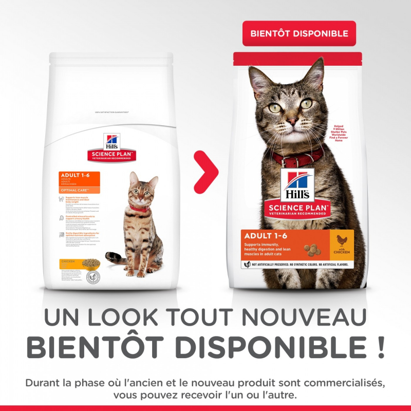 HILL'S Science Plan au Poulet pour Chat Adulte