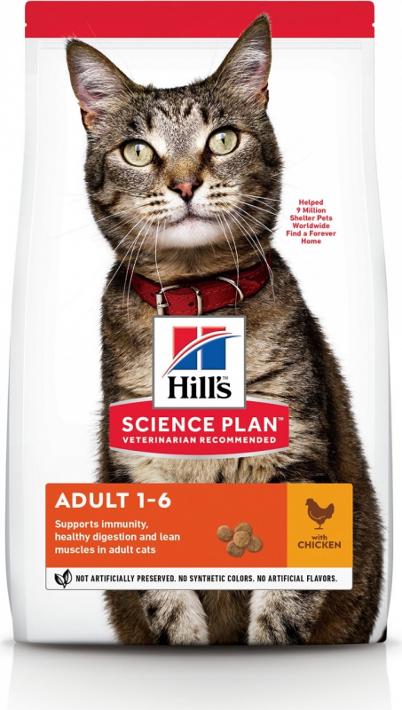 HILL'S Science Plan Cat Adult, met kip