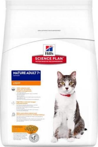 HILL'S Science Plan Mature Adult 7+ LIGHT au poulet pour chat senior