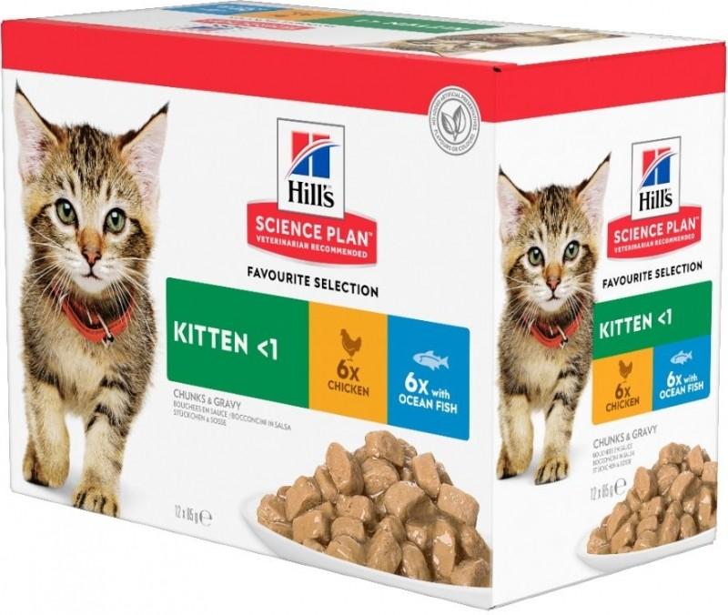 PACK de 12 Pâtées Hill's Kitten 85g au Poulet pour Chaton