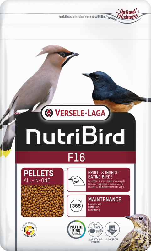 NutriBird F16 pour pigeons frugivores et frugi-insectivores
