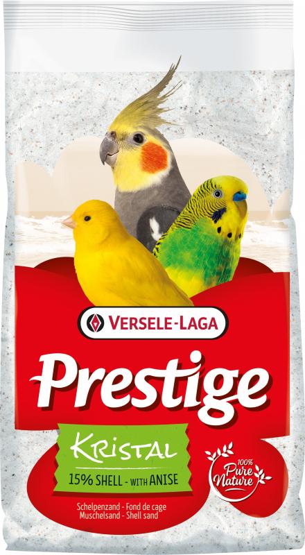 Prestige Kristal Fond de cage sable blanc à l'anis avec 15% d'écailles