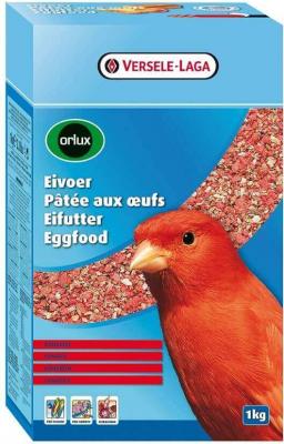 Orlux Pâtée aux oeufs sèche rouge pour la reproduction des canaris rouges et autres oiseaux avec un plumage rouge