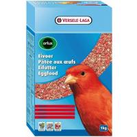 Orlux  - Paté de huevo deshidratado rojo para la reproducción de Canarios rojos y otros pájaros con plumaje rojo.