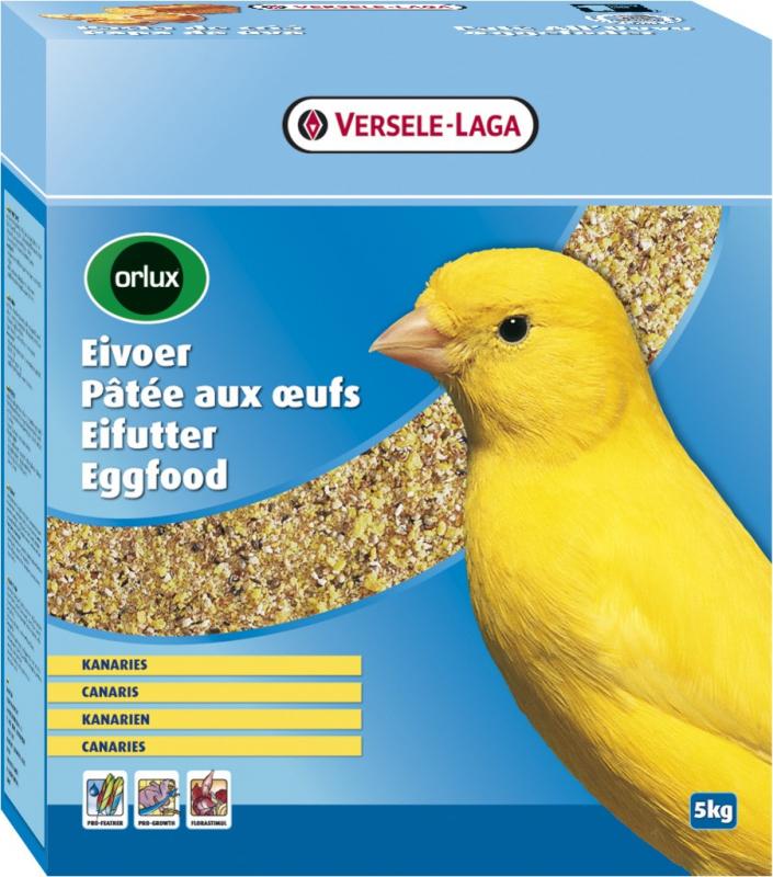 Orlux Eifutter mit getrockneten Eiern für Kanarienvögel, deren Aufzucht, Haltung und Singstimme