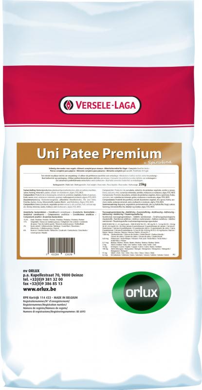 Orlux Uni paté Premium para pájaros frugívoros e insectívoros