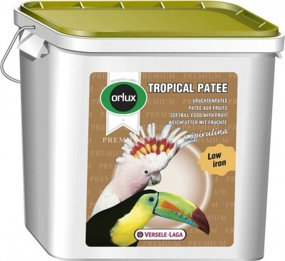 Orlux Tropical Patee Premium für alle obstfressende Vögel.