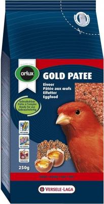 Orlux Gold paté rojo para el cuidado del plumaje de los canarios rojos