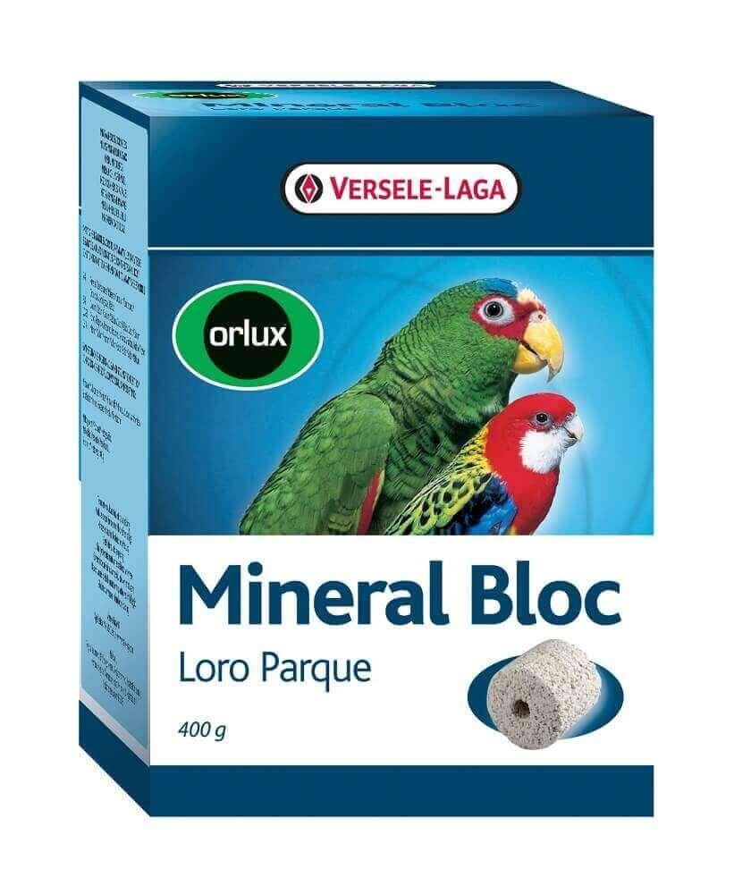 Orlux Mineral Bloc Loro Parque brique à picorer pour grandes perruches et perroquets_0