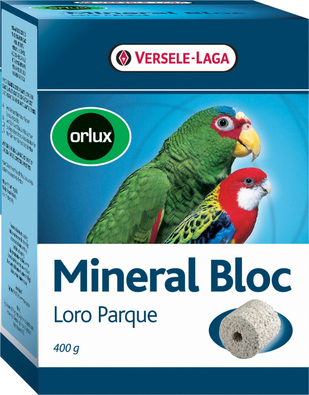 Orlux Mineral Bloc Loro Parque brique à picorer pour grandes perruches et perroquets