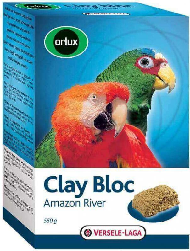 remise spéciale sensation de confort gros remise Orlux Clay Bloc Amazon Rive pierre à picorer pour grandes perruches et  perroquets