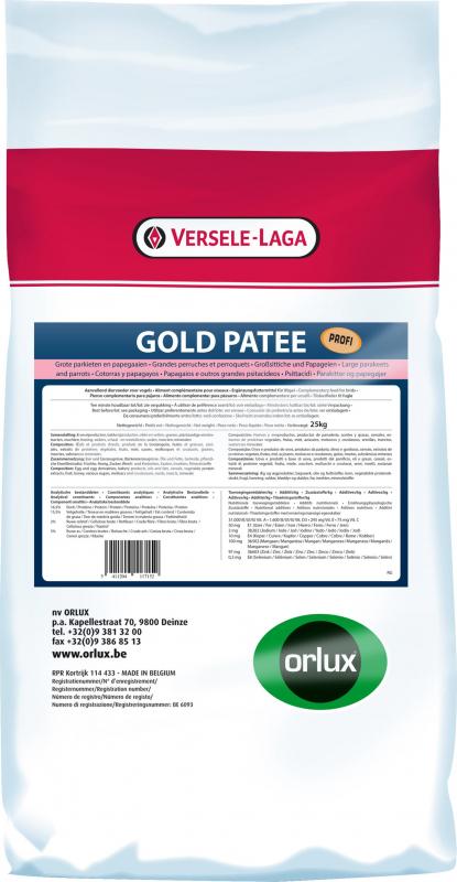 Orlux Gold paté grandes periquitos & loros Profi