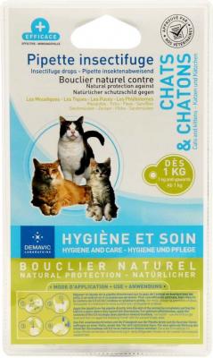 Pipeta insecticida para gato y gatito x 2