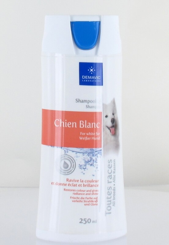 Shampooing pour chien blanc 250 mL