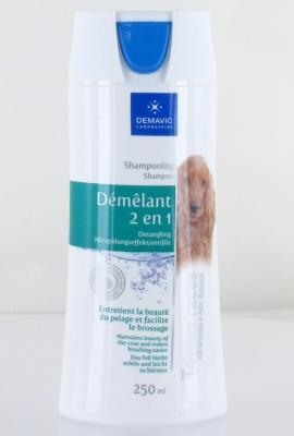 Shampooing démêlant 2 en 1 pour chien 250 mL