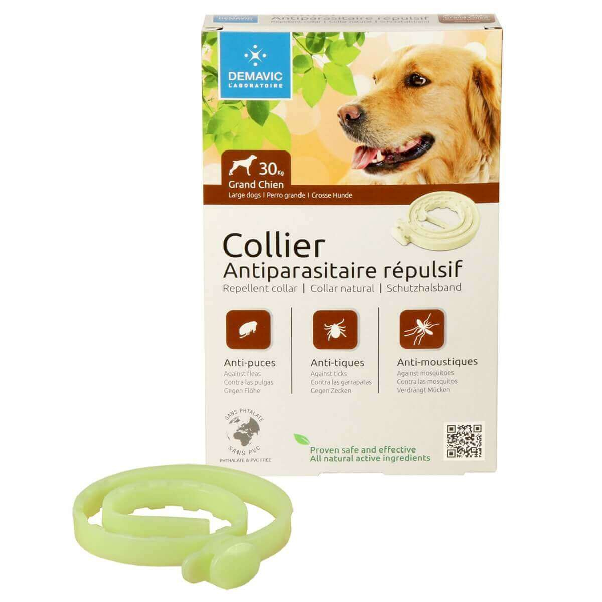 collier insectifuge pour chien collier anti parasites. Black Bedroom Furniture Sets. Home Design Ideas
