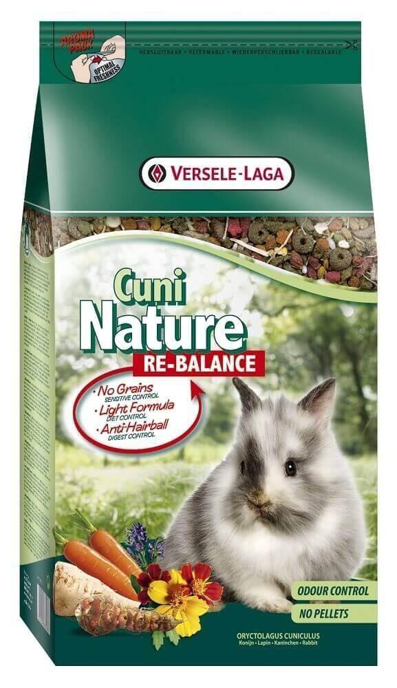 Cuni Nature Re-Balance pour les lapins plus âgés, peu actifs ou souffrant d'un excès de poids_0